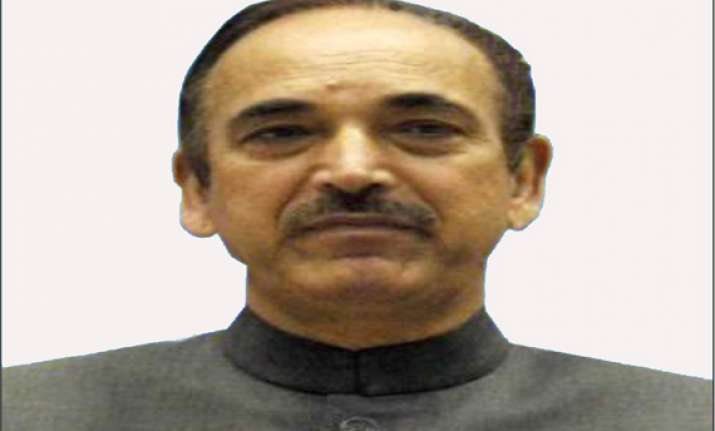 azad cancels rally in tral after killing of political