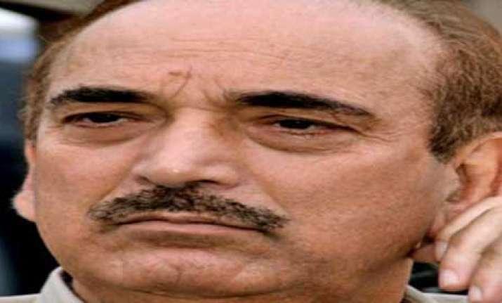 azad lays foundation stone of rajiv gandhi hospital in jammu