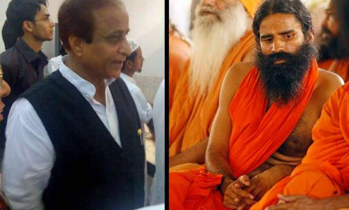 azam khan lashes out at ramdev for armed brigade threat
