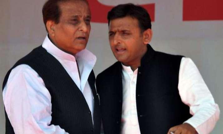 azam khan takes oath as up minister