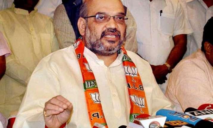 amit shah calls azamgarh base of terrorists parties demands