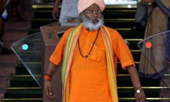 bjp mp sakshi maharaj declared absconder in babri case