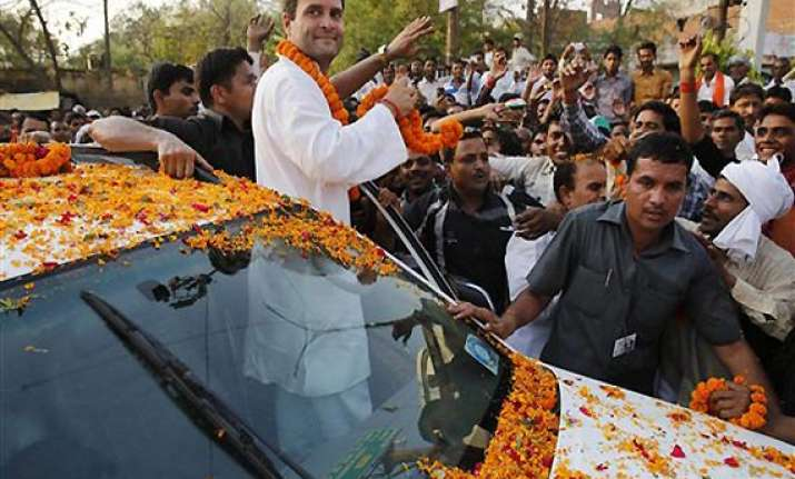 bjp attacks election commission on rahul s roadshow