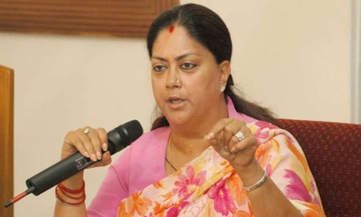 bjp not to stop welfare schemes in rajasthan raje