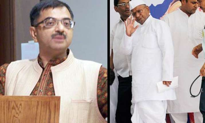 bjp attacks anna over bhushan father son in panel