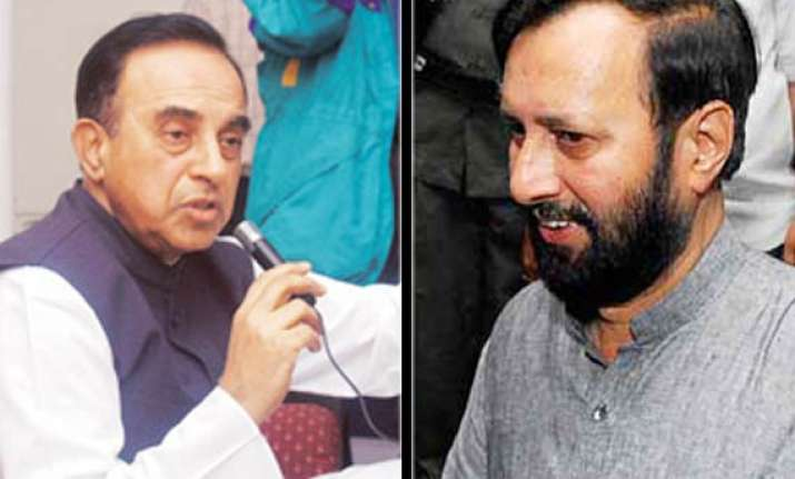 bjp defends swamy says congress vindictive