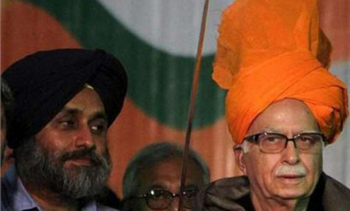 bjp has put upa govt in the dock claims advani