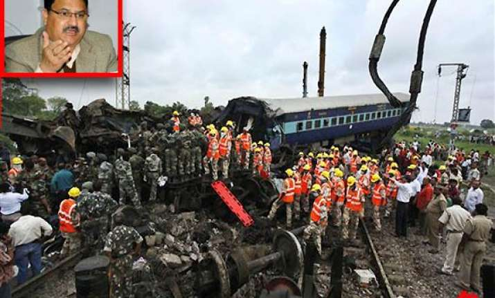 bjp holds pm responsible for railway accidents