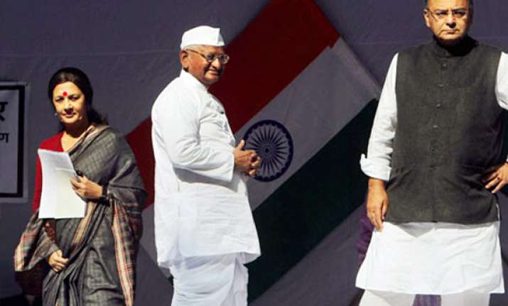 bjp raises pitch on lokpal wants rs to take up bill first