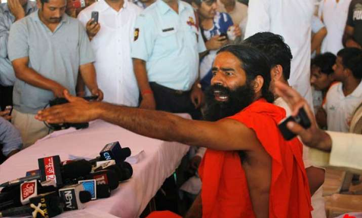 talks fail baba ramdev to sit on fast till all demands are