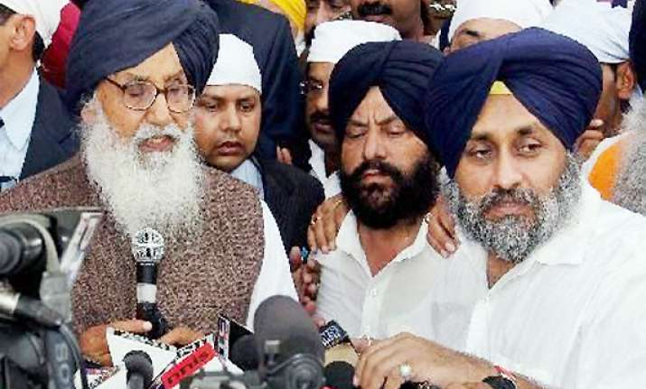 badal to take oath heading an 18 member cabinet in punjab