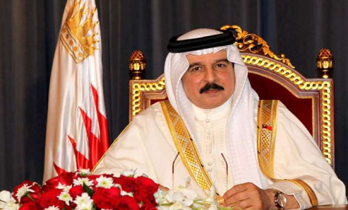 bahrain king arrives on first india visit