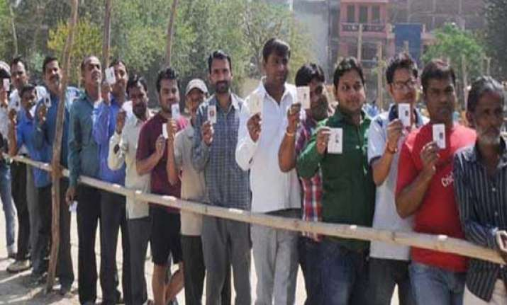 balloting under way in uttar pradesh
