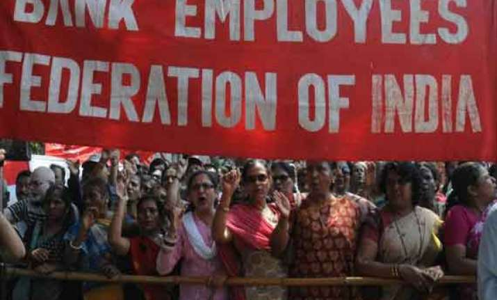 bank strike over reforms hits services across india