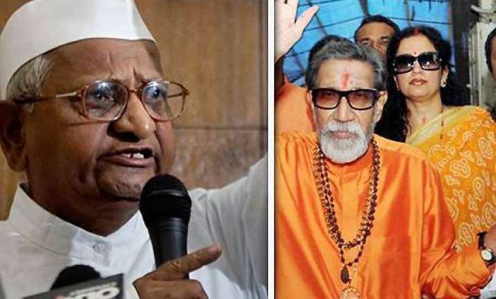bedi and co. playing with hazare s life thackeray