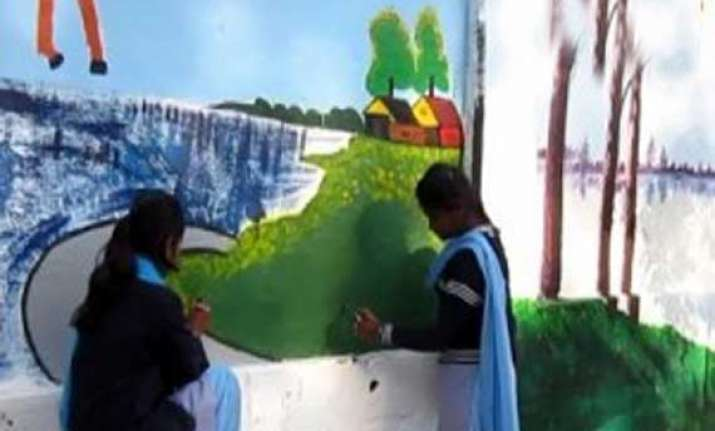 bengal students to beautify polling stations
