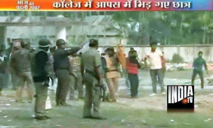 bengal police lathicharge as students clash during union