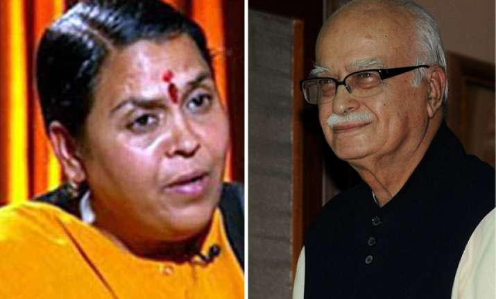 bharti roots for advani as bjp s pm candidate