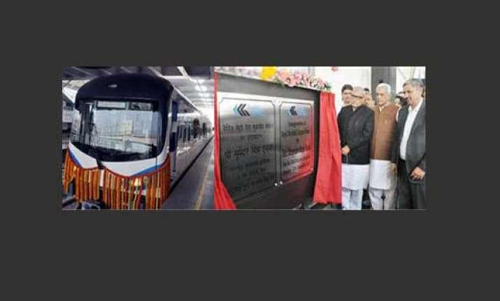 bhupinder singh hooda lays foundation of metro rail