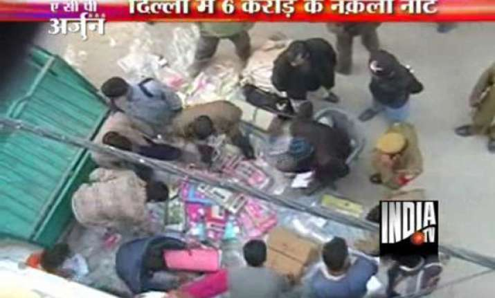 biggest haul of fake currency totalling rs 6 cr in delhi