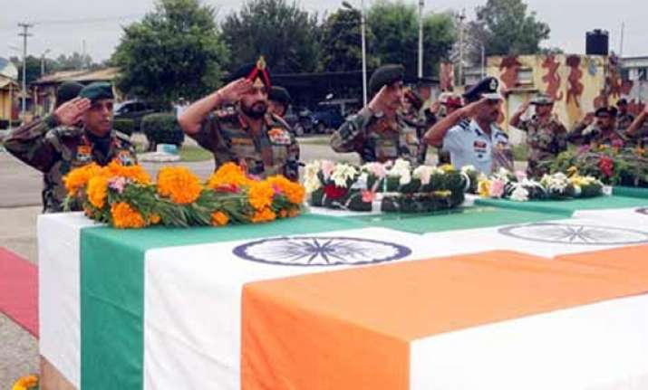 bihar regiment soldier cremated with full state honours