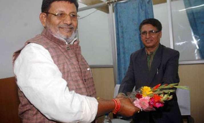 bihar s absconding minister resigns