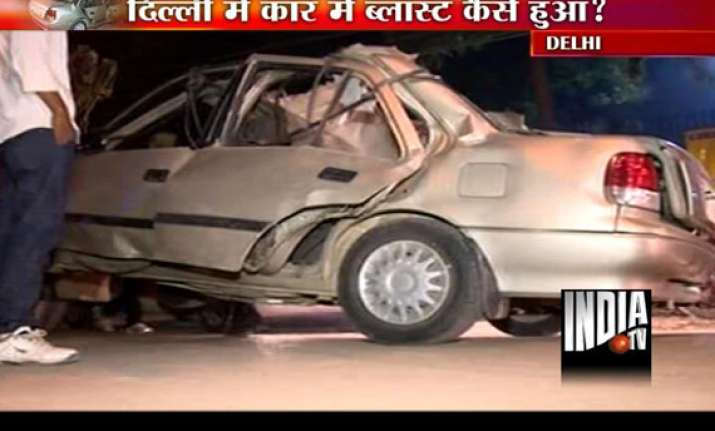 Birthday Balloons Explode Blowing Up Maruti Esteem Car In Delhi