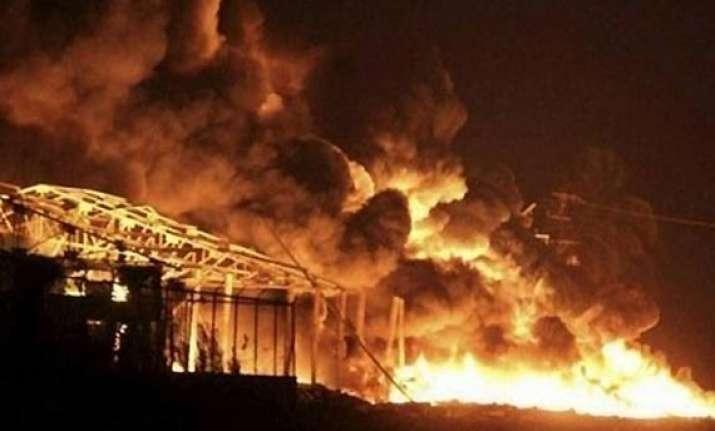 blaze at sivakasi fire cracker unit