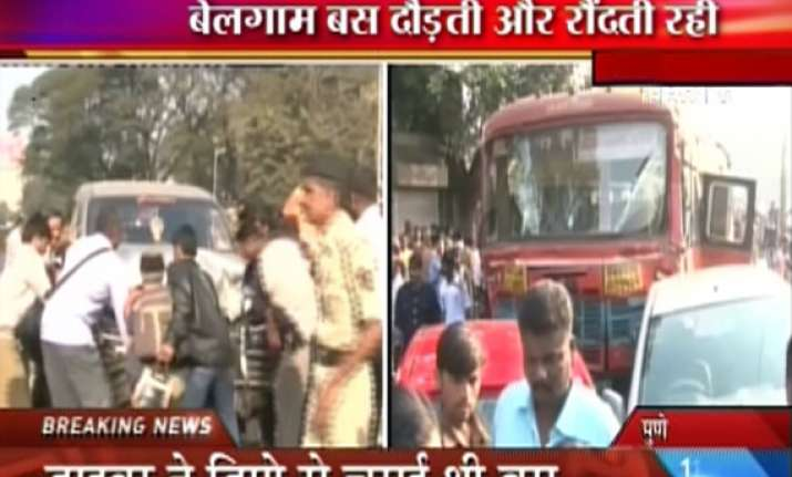 bus driver runs amok in pune 10 killed 26 injured