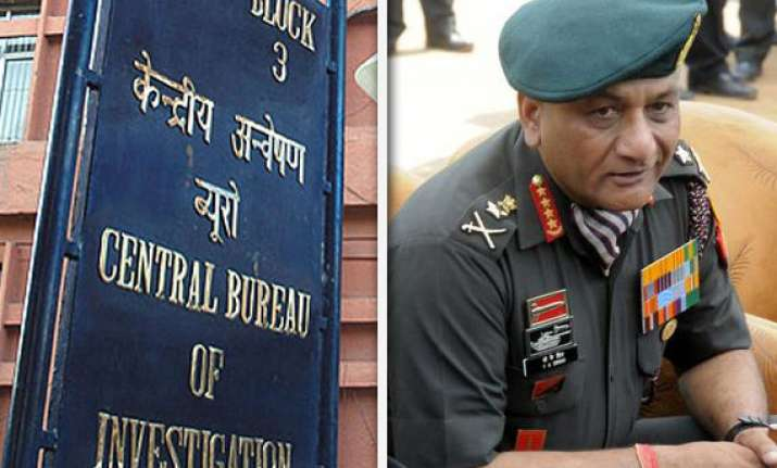 cbi all set to start probe in gen singh s bribery