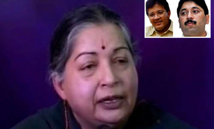 cbi raids on marans are an eyewash says jayalalithaa