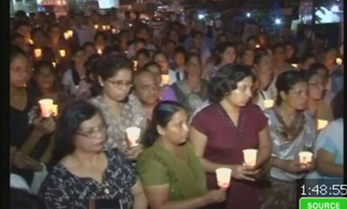 candlelight vigil for indian nurse who died in london
