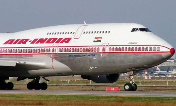 catering vehicle hits wing of air india plane in chennai
