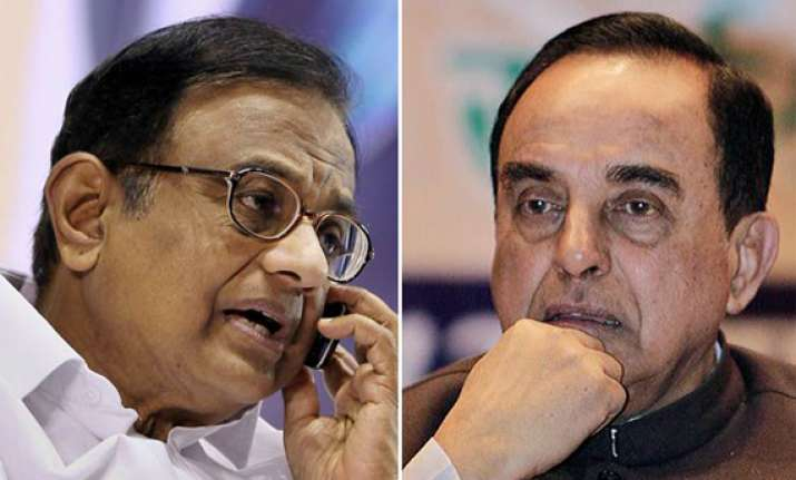 centre rejects swamy s charges against chidambaram as