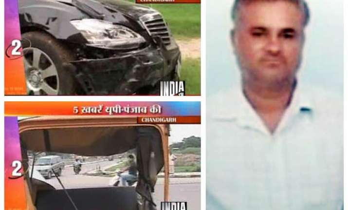 chandigarh auto driver mowed down by a mercedes