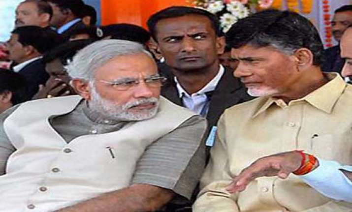 chandrababu naidu to discuss ap bifurcation issues with pm