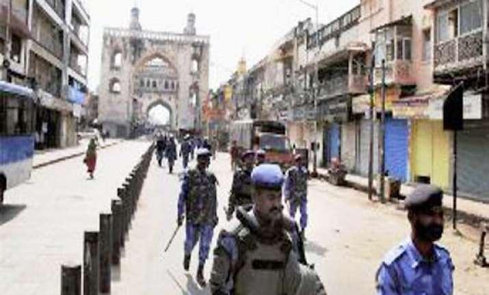 charminar under police siege for third day
