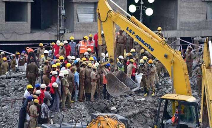 chennai building collapse toll rises to 61