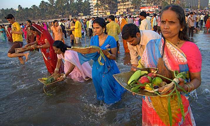 chhath festival begins in bihar