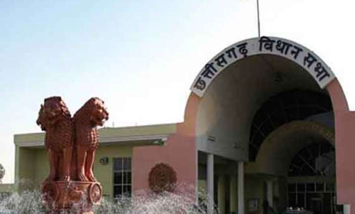 chhattisgarh assembly opposition stages walkout over ration
