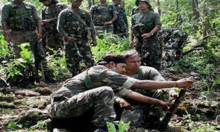 chhattisgarh police destroy naxal memorials seize explosives