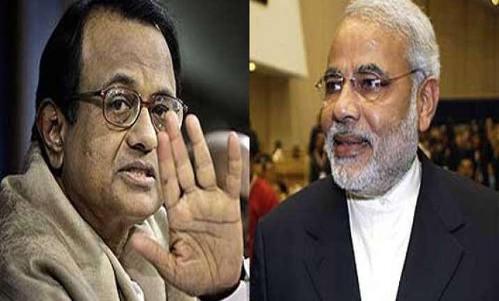 chidambaram did encounter of indian economy modi retorts