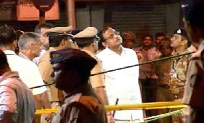 chidambaram visits blast sites