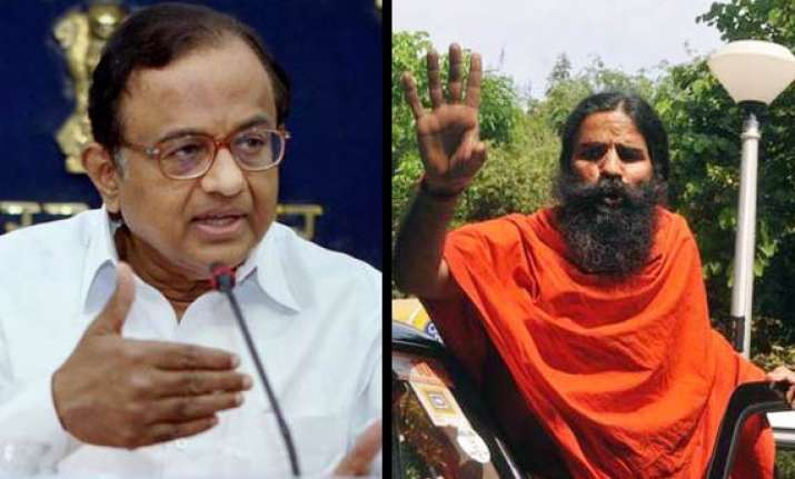 chidambaram warns ramdev on armed cadre threat