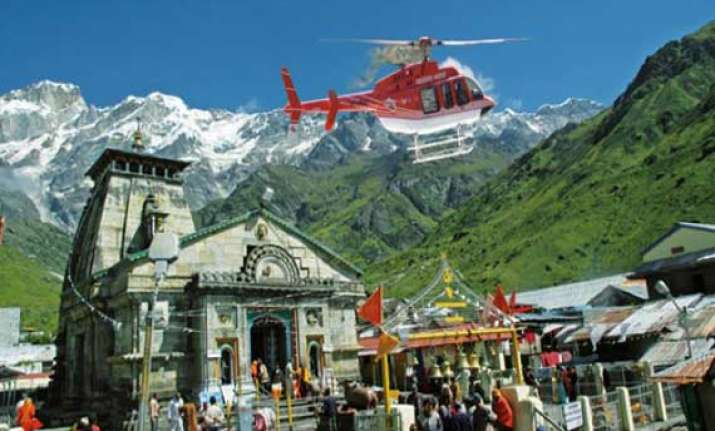 chopper services to kedarnath to be launched from may 12