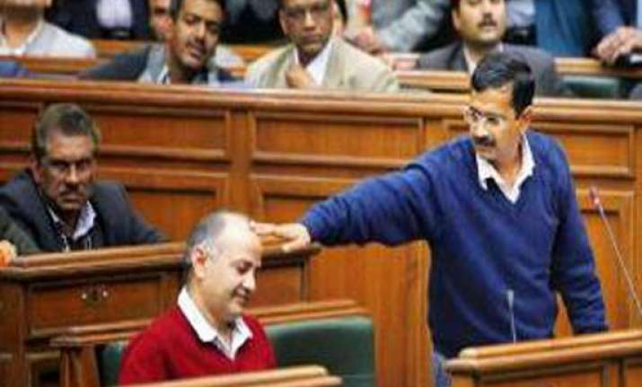 cong bjp take jibe at kejriwal after he resigns