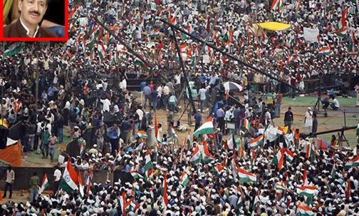 cong accuses bjp of using hazare to regain power