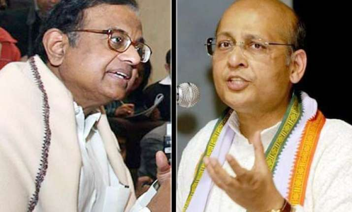 cong backs chidambaram rules out rift in govt