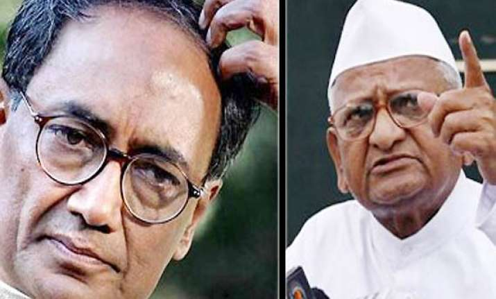 cong unimpressed with digvijay s letter to hazare