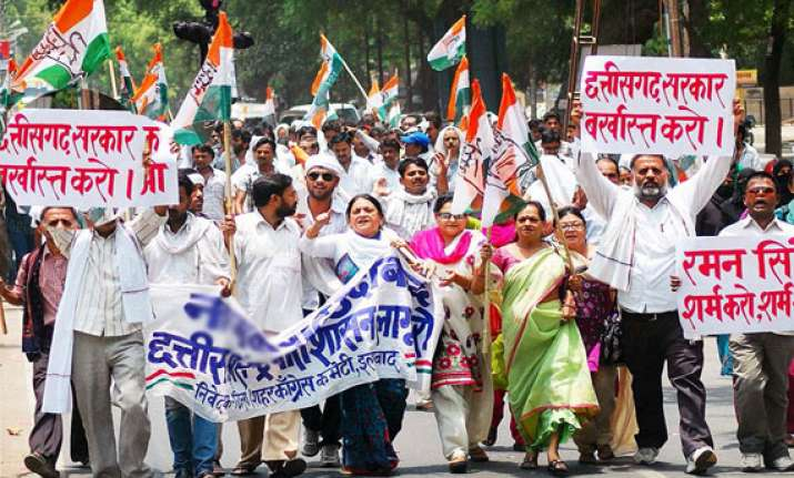 congress workers block highways demand hike in farm support